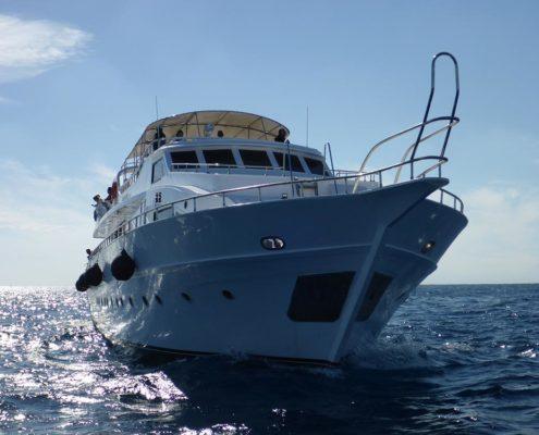 Unsere Yacht für die Bootssafari